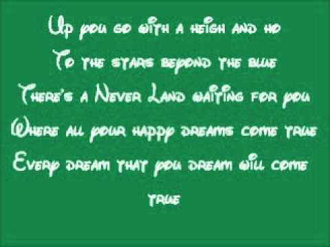 Peter Pan-You Can Fly Lyrics