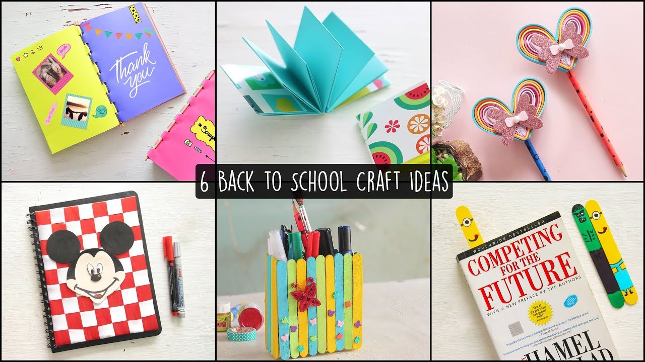 6 Easy Back To School Craft Ideas Youtube