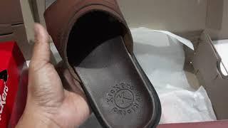 sandal pria selop kickers - sandal kulit asli - sandal cowok - sendal pria
