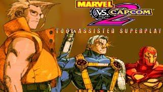 Marvel vs Capcom 2 - Ironman|Charlie|Cable【TAS】