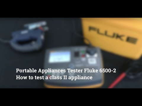 How To Test A Class II Appliance Fluke 6500-2 PAT Tester