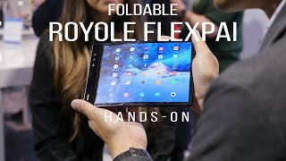 All show, little practicality. That's the foldable Royole FlexPai [hands-on]