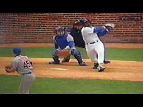 Sammy Sosa Breaks Window With Home Run Wrigley Field Vs New York Mets