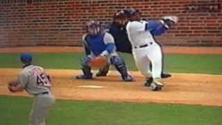 Sammy Sosa Breaks Window With Home Run Wrigley Field Vs New York Mets