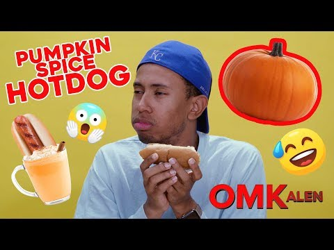 Kalen Reacts to and Tries Pumpkin Spice Hot Dogs