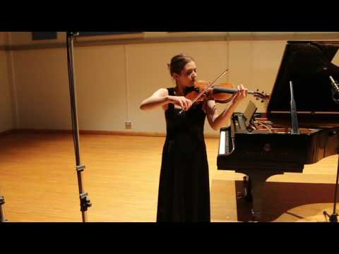 Ysaÿe Sonata No. 4 for solo violin, 1st mvt - Mathilde Milwidsky