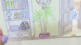 КАК СДЕЛАТЬ ДОМИК//3D//ДЛЯ БУМАЖНЫХ КУКОЛ//How to make Dollhouse(Как собрать бумажный домик из отдельных комнат, нарисованных на тетрадных, альбомных листах . Музыка: Компо..., 2016-12-10T15:24:53.000Z)