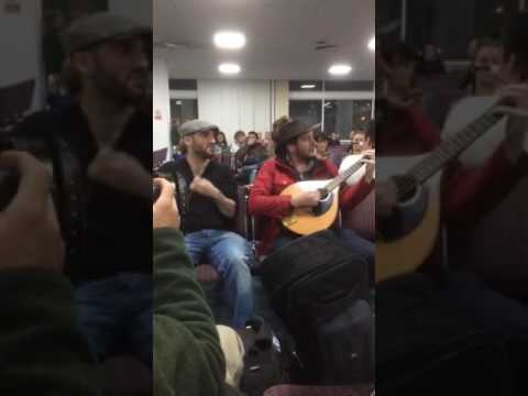 More footage of the impromptu trad session at Newcastle Airport