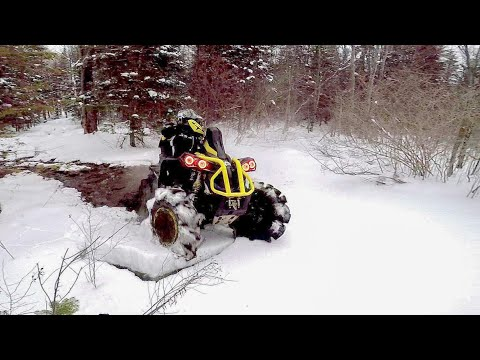 Breaking Ice and Rippin Ditches (Can Am Renegade 1000 XMRs)