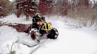 Video Breaking Ice and Rippin Ditches (Can Am Renegade 1000 XMRs) download MP3, 3GP, MP4, WEBM, AVI, FLV Januari 2018