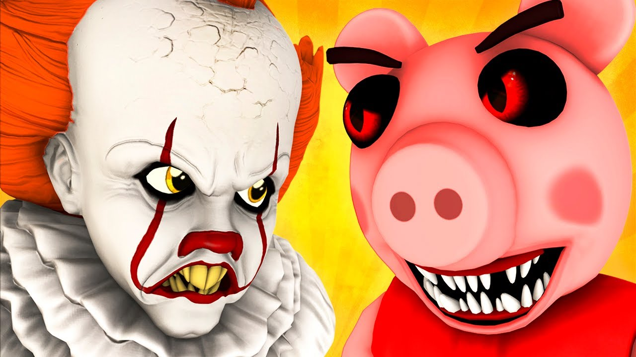 Piggy vs Pennywise (Roblox Peppa Pig It Dancing Clown Horror 3D Animation Challenge)