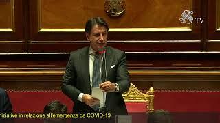 Palazzo madama, 28/07/2020 - la replica presidente del consiglio, giuseppe conte, al dibattito sulle comunicazioni relative alle ulteriori iniziative riguard...