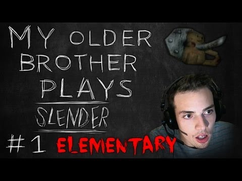 My Brother Plays SLENDER! *NEW MAP* Elementary School! - Part 1