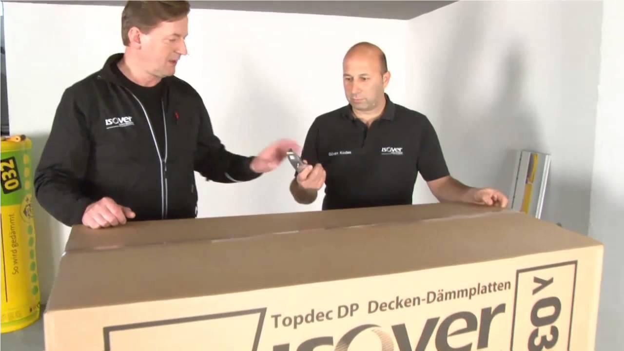 Isover Topdec Keller Und Tiefgaragendeckendammung Web Tv Fur
