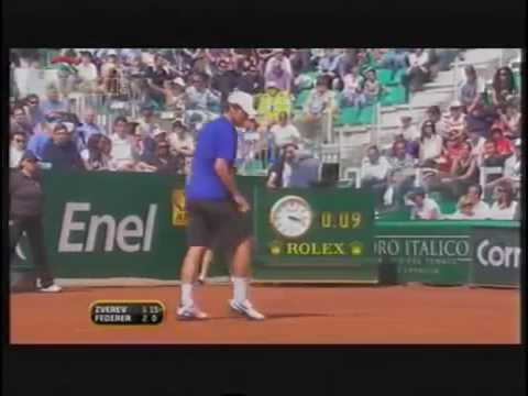 Roger Federer vs Mischa Zverev FULL MATCH Rome 2009
