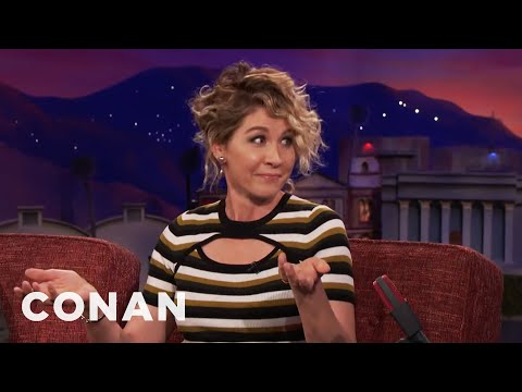 Jenna Elfman Watched Her Husband Make Out With Other Women   CONAN on TBS