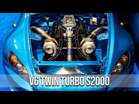 V6 Twin Turbo Swapped S2000 Drag Car