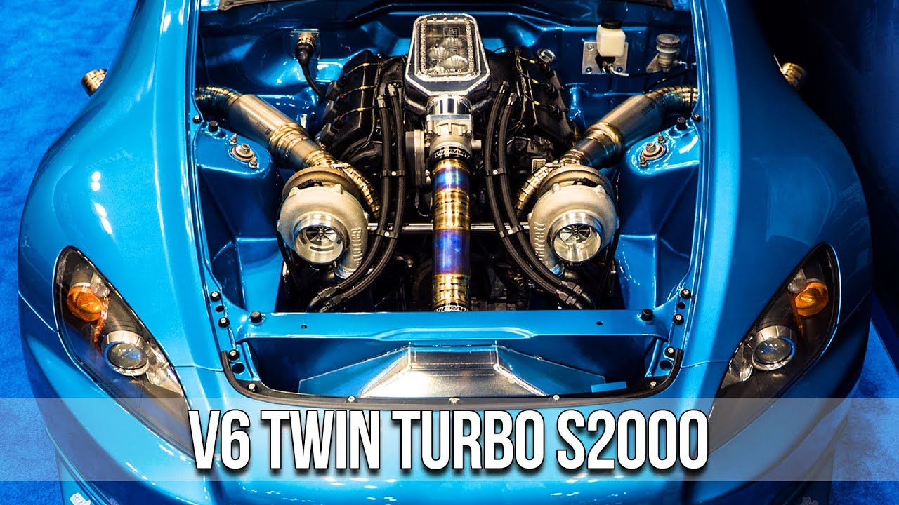 S2000 with a Twin-Turbo J32 V6 – Engine Swap Depot