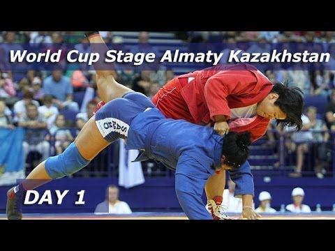 Sambo World Cup Stage Almaty Kazakhstan 2014. Amount of the 1 day