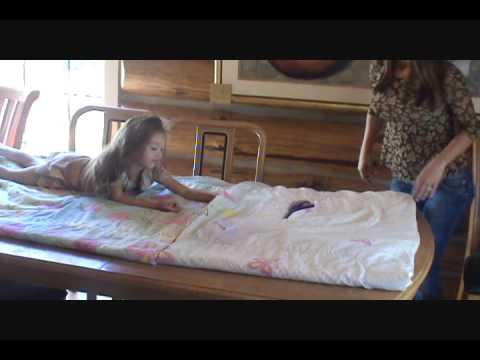 diy from comforter to sleeping bag