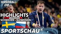 Euphoriebremse: Schweden verliert gegen Slowenien | Handball-EM | Sportschau