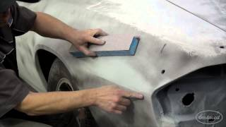 how to block sand car panels primer surfacer dura block soft sanders with kevin tetz eastwood