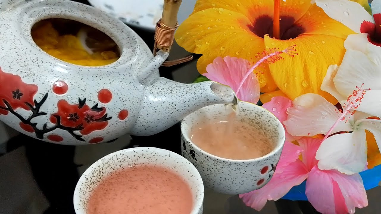 How To Make A Tea From Gumamela Or Hibiscus Flower Youtube