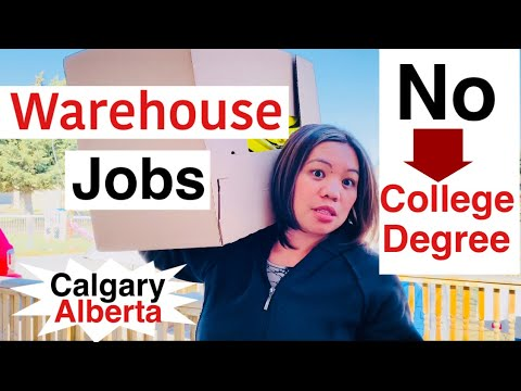 WAREHOUSE JOBS IN CALGARY ALBERTA CANADA | Vlog |sarah buyucan