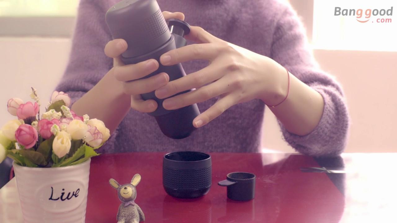 Portable Manual Coffee Maker Outdoor Handheld Mini Pressing Machine Travel Espresso