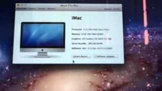 IMAC 2TB HARD DRIVE 8GB RAM