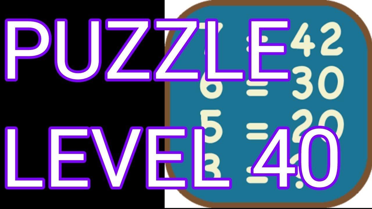 Math Puzzles Level 40 Walkthrough - YouTube