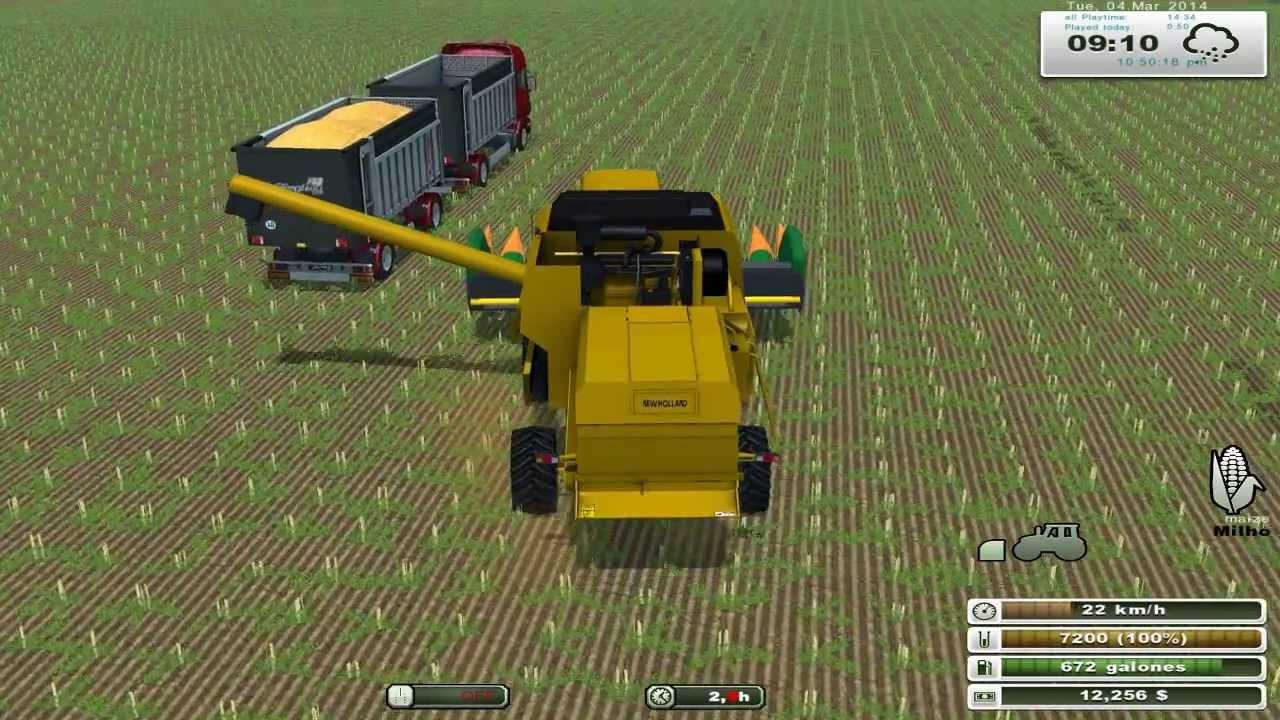 Farming simulator 2013 colheita de milho tc 59 stara com anima o youtube