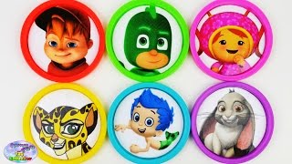 learn colors disney nick jr umizoomi pj masks play doh toys surprise egg and toy collector setc