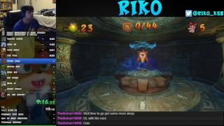 Crash Bandicoot N. Sane Trilogy - Crash 2 Any% speedrun in 1:10:44 (56:33 w/o loads) by Riko