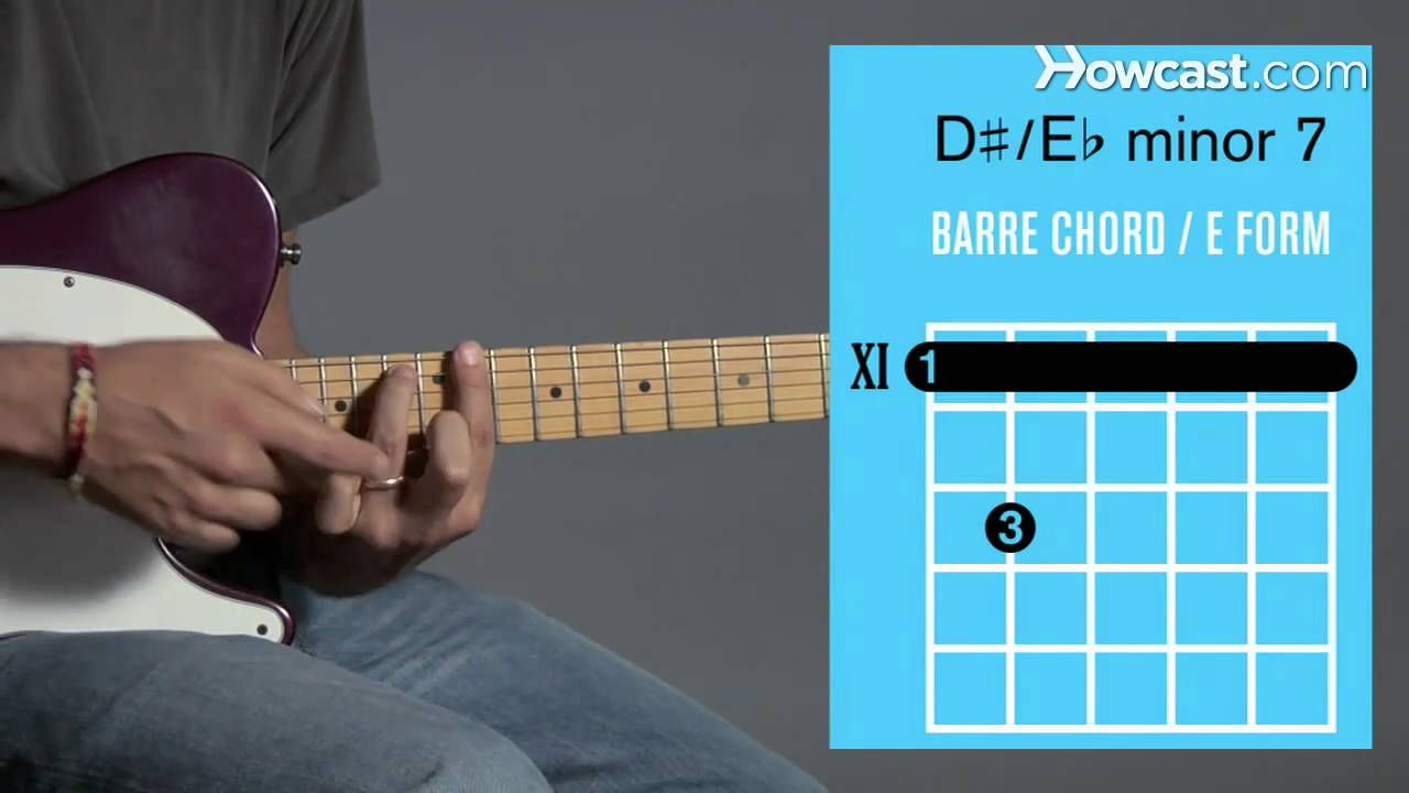 E Minor 7 D Minor 7 Barre Chord Guitar Lessons Youtube