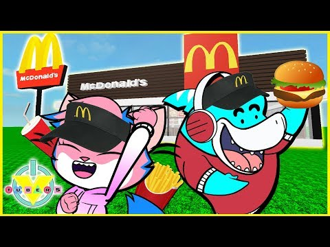 Roblox Escape Mcdonalds GIANT FOOD Let's Play With VTubers Alpha Lexa Vs Big Gil