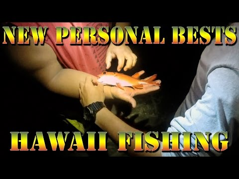 """New Personal Best """"Red"""" Fish - Catching Fish In Hawaii Early Morning Style - Braddahs On Da Shore 23"""