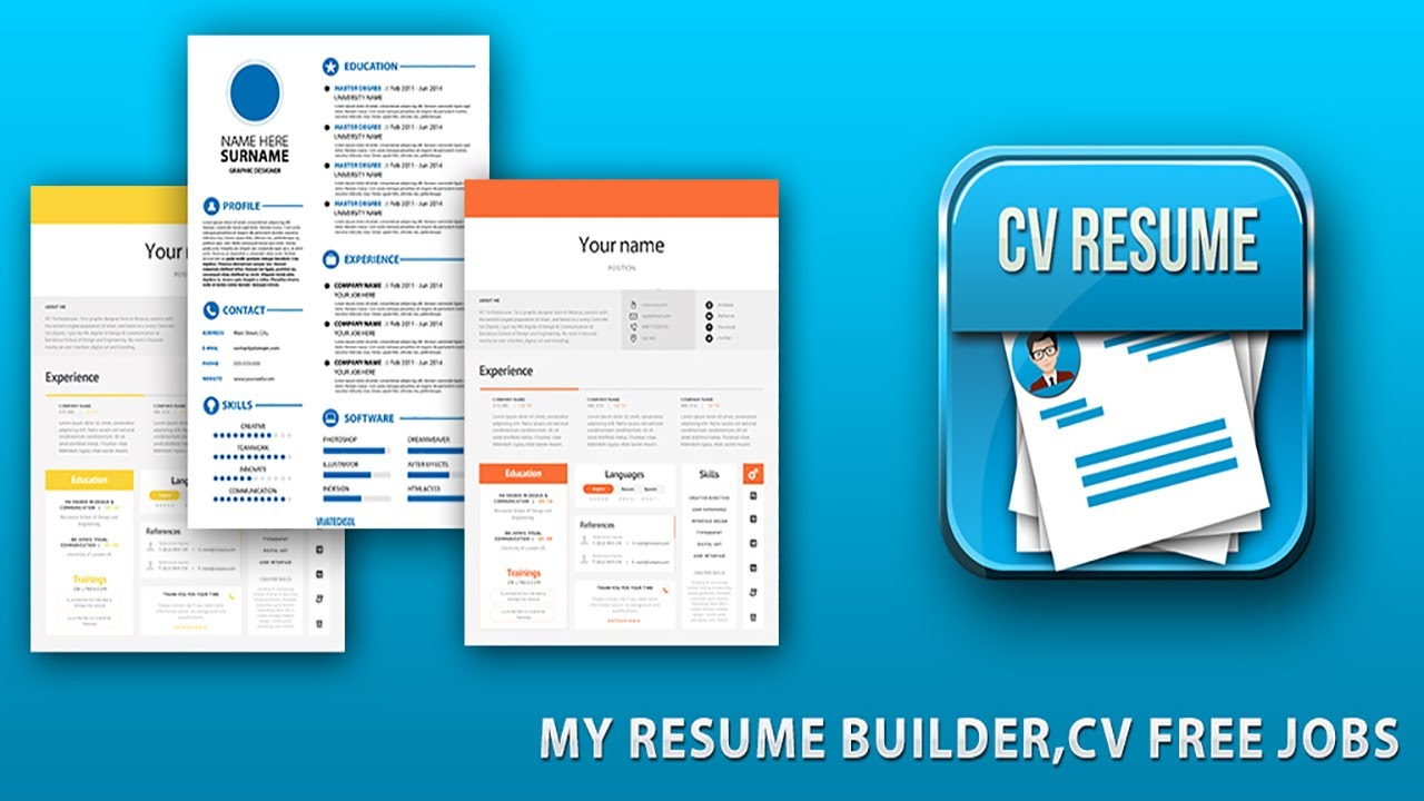 CV Resume Professional Resume Builder   CV Maker Free 2017 Promotional Video