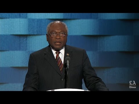 Rep. James E. Clyburn of South Carolina speaks at the Democratic National Convention