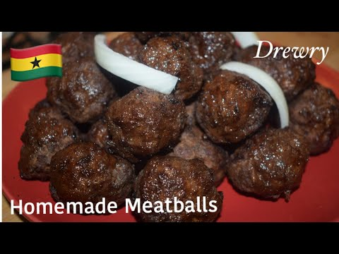 MOUTHWATERING HOMEMADE GHANA MEATBALLS || PART1||