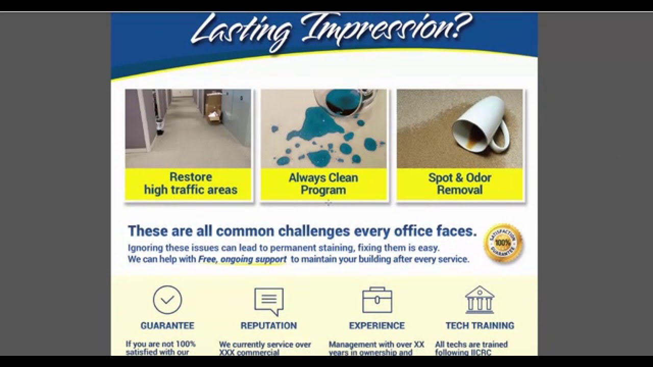 Perfect Sample Commercial Carpet Cleaning Sales Flyers And Brochures   YouTube