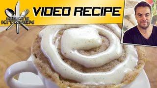 5 Minute Cinnamon Roll Mug Cake