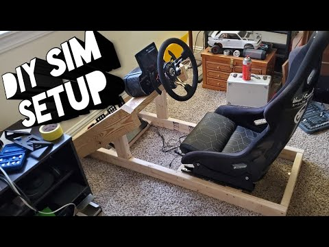 My new Rig!! How to build a custom steering wheel base!! Step by Step on the build!!