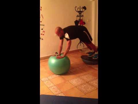 Trabajo de core y brutal exigencia muscular de la cadena anterior.