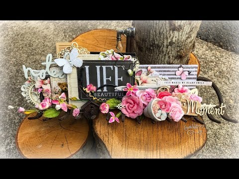 """Shabby Chic Altered """"Rusty Rake and Roses"""" (DT Project for Reneabouquets)"""