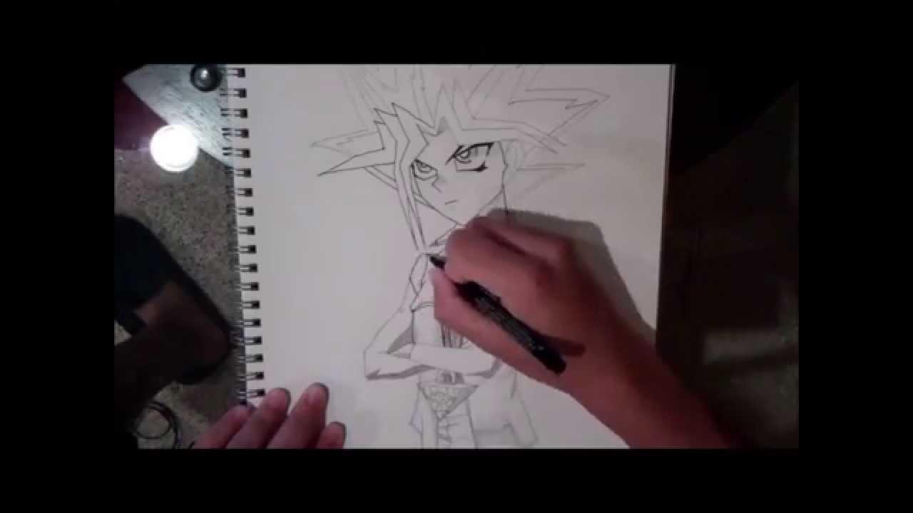 yugi moto how to draw