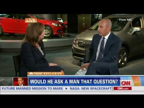 Lauer criticized for GM CEO interview