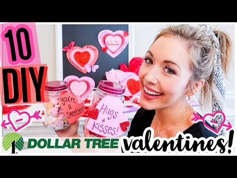 DIY DOLLAR TREE VALENTINES 2019! 💘💖10 ADORABLE + AFFORDABLE NEW IDEAS FOR VALENTINE'S DAY!