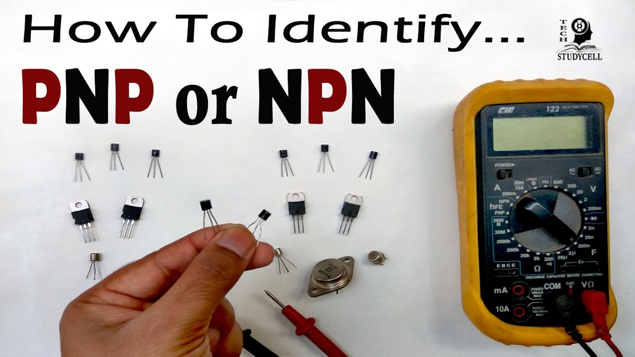How To Identify Pnp Or Npn Transistor