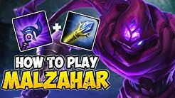 How to Play MALZAHAR MID for Beginners | MALZAHAR Guide Season 10 | League of Legends